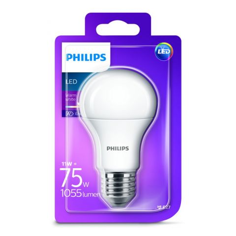 PHILIPS LED E27 11W/75W WW