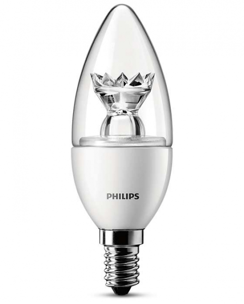 LED ŽÁROVKA PHILIPS 4W/25W E14 CANDLE čIRÁ LOTUS TECHNOLOGY