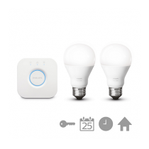 PHILIPS HUE Starter kit 2 SET E27 White A60 + bridge
