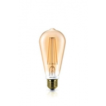 PHILIPS LED ŽIAROVKA E27 ST64 FILAMENT GOLD DIMMABLE WW 7W=50W